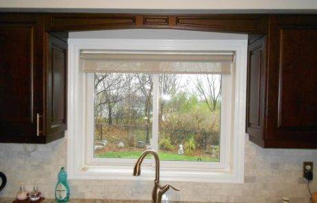 kitchen cabinet around window