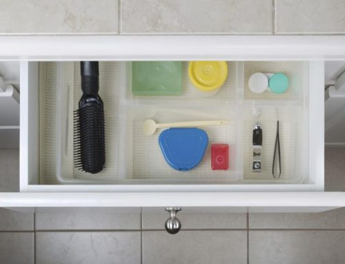 Organize Bathroom Clutter with a Custom Built Wood Cabinet